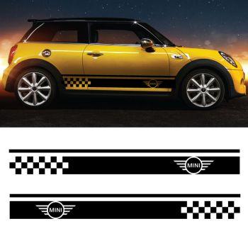 Mini cooper Logo stripes decals set of 2 stripes