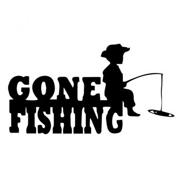 Gone Fishing Decal