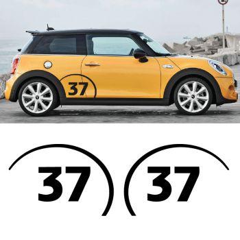 Mini Cooper No. 47, set of 2 decals