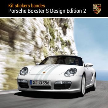 Kit Stickers Bandes Porsche Boxster S Design Edition 2