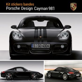 Porsche Design Cayman 981 Decals Set