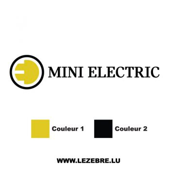Mini Cooper Electric Color Decal