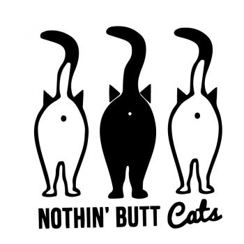 JDM Nothing Butt Cats Decal