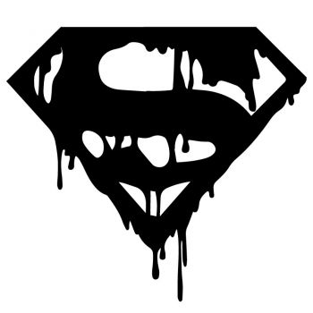 Bloody Superman Decal