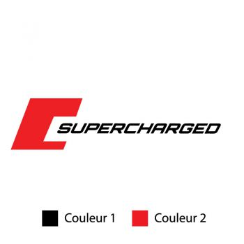Sticker Mini Cooper Supercharged Couleur