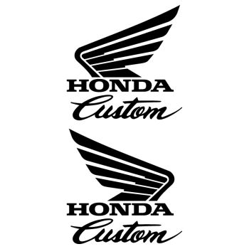 Set of 2 Honda Custom Tank Decals