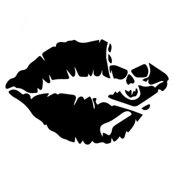 Death Kiss Decal
