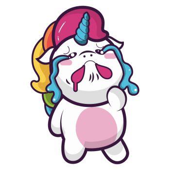 Crying Unicorn Decal