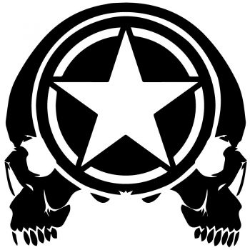 Sticker Étoile US ARMY Star Punisher Double