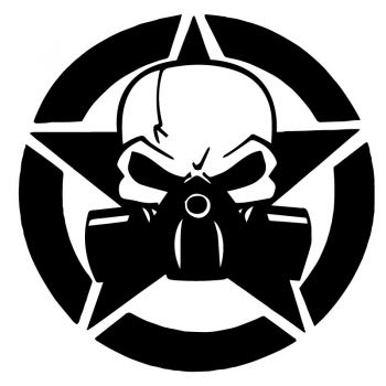 Sticker Étoile US ARMY Star Punisher Biohazard