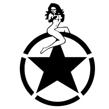 Sticker Étoile US ARMY Star Pin-Up
