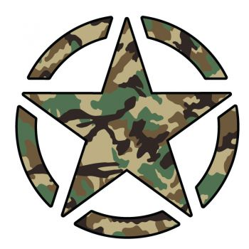 Sticker Étoile US ARMY Star Camouflage