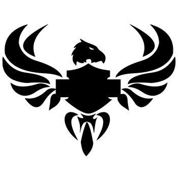 Harley Davidson Eagle Decal