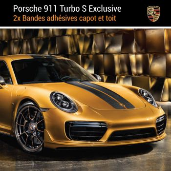 Porsche 911 Turbo S Exclusiv Stripes Decals Set
