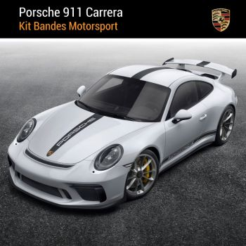 Porsche 911 Carrera Motorsport Stripes Decals Set