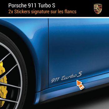Porsche 911 Turbo S Aufkleber (2x)