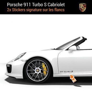 Porsche 911 Turbo S Kabriolett Aufkleber (2x)