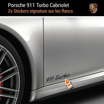 Porsche 911 Turbo Kabriolett Aufkleber (2x)
