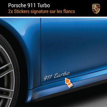 Porsche 911 Turbo Aufkleber (2x)