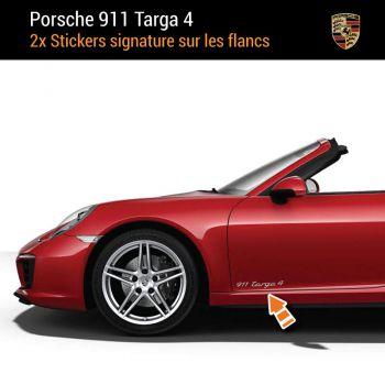 Porsche 911 Carrera Targa 4 Aufkleber (2x)