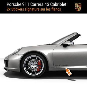 Porsche 911 Carrera 4S Cabriolet Decals (2x)