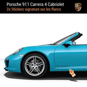 Porsche 911 Carrera 4 Kabriolett Aufkleber (2x)