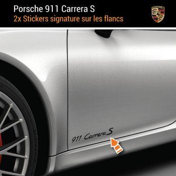 Porsche 911 Carrera S Kabriolett Aufkleber (2x)