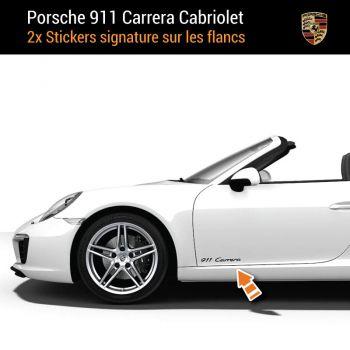 Porsche 911 Carrera Kabriolett Aufkleber (2x)