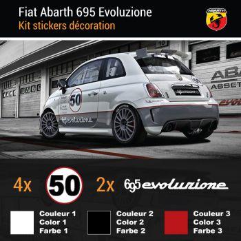 Fiat Abarth 695 Evoluzione Decals Set