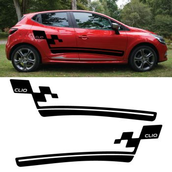 Car side Renault Clio 2018 stripes stickers set