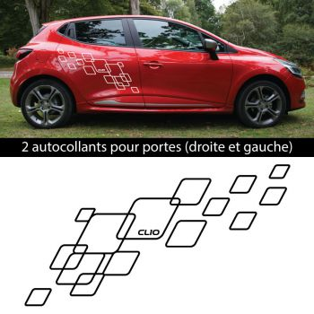 Car side Renault Clio 2018 Checkboard stickers set