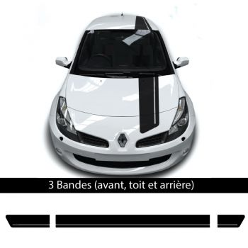 Car Renault Clio 2018 front, top and back stickers set