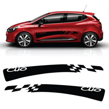 Car side Renault Clio 2018 Racing stripes stickers set