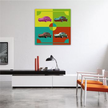Canvas Porsche 911 Pop art
