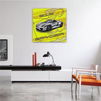Canvas Porsche 918 Spyder Cabrio