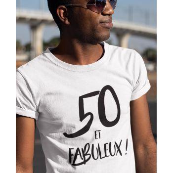 Tee-shirt 50 Ans et Fabuleux