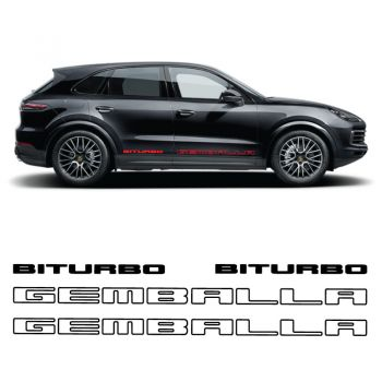Car Side Stripes Decals Set Porsche Cayenne Gemballa Biturbo