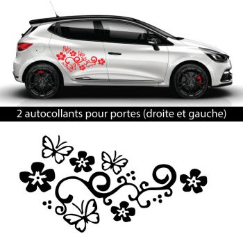 Car Side Renault Clio 2018 Butterfly Decals Set