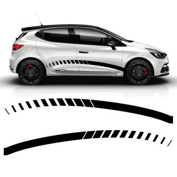 Car Side Renault Clio 2018 Racing Decals Set