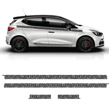 Car Side Renault Clio Labyrinth Decals Set