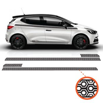 Car Side Renault Clio Hexagon Japan Decals Set