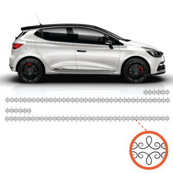 Car Side Renault Clio Simple Ornament Decals Set