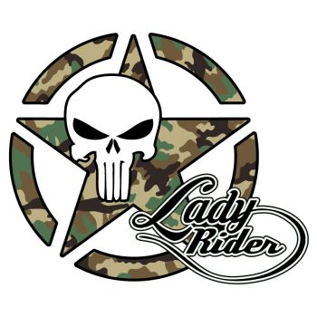 Sticker Étoile US ARMY Star Lady Rider Punisher