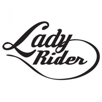 Lady Rider decal Biker