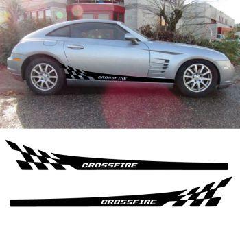 Crysler Crossfire Car Side Stripes Decals Set