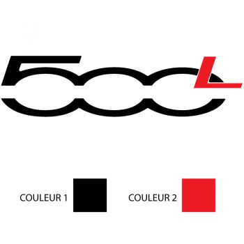 Fiat 500L Logo Color Decal