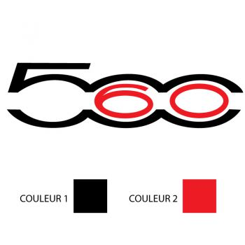 Fiat 500 - 60 Years Logo Color Decal