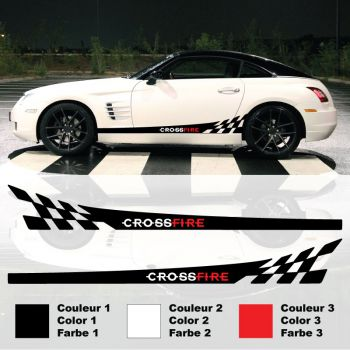 Kit Stickers Bandes Damiers Chrysler Crossfire