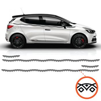 Car Side Renault Clio Wave Ornament Decals Set