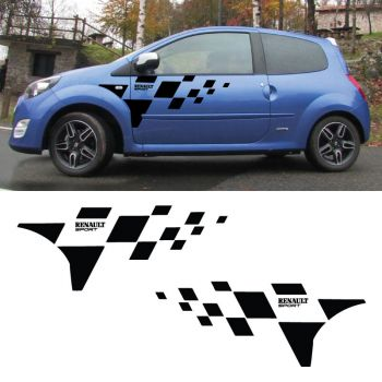 Renault Twingo Sport Checkerboard Decals Set